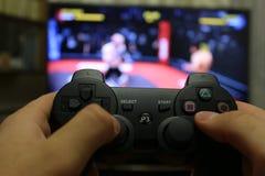 Palanca de mando para las consolas del videojuego Fotos de archivo libres de regalías