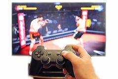 Palanca de mando para las consolas del videojuego Foto de archivo libre de regalías