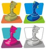 Palanca de mando retra de los juegos Imagen de archivo libre de regalías