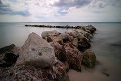 Palancar,科苏梅尔海滩 免版税库存照片
