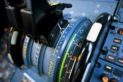 Palancas del empuje de los aviones Imágenes de archivo libres de regalías