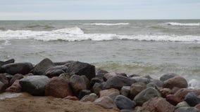 Palanga, Литва Побережье Sandy Балтийского моря видеоматериал