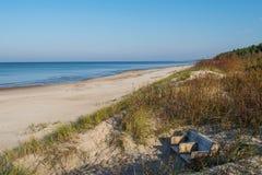 Palanga Baltisch strand in de herfst Royalty-vrije Stock Afbeelding