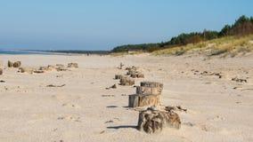 Palanga Baltisch strand in de herfst Royalty-vrije Stock Afbeeldingen