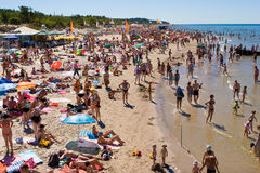 Palanga beach Royalty Free Stock Photography