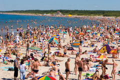 Palanga beach Royalty Free Stock Image