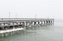 Palanga bridge in winter Royalty Free Stock Photo