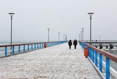 Palanga bridge in winter Stock Photography