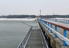 Palanga bridge in winter Royalty Free Stock Image
