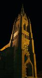 Palanga cathedral. Night scene of Palanga cathedral, summer 2006. Artificial lighting Royalty Free Stock Photos