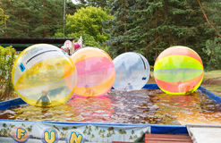 Palanga. Children's attractions in the city park of Palanga. Stock Photos