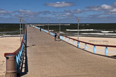 Palanga city beach and pier Stock Images