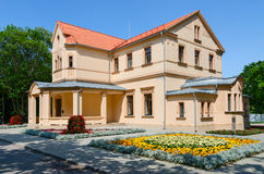 Palanga Kurhaus, Alley of Counts Tyszkiewicz 1, Palanga, Lithuan. PALANGA, LITHUANIA - JULY 12, 2015: Palanga Kurhaus, Alley of Counts Tyszkiewicz 1. It is first stock images
