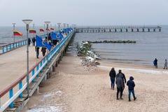 Palanga pier, Lithuania seacoast Stock Photo