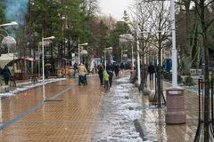 Palangastraat in de winter Stock Afbeeldingen