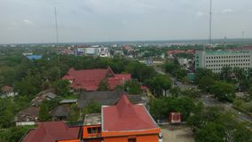 Palangka Raya City. Palangkaraya city views from the top of the building Royalty Free Stock Photography