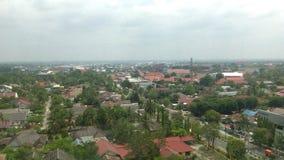 Palangka Raya City. Palangkaraya city views from the top of the building stock image