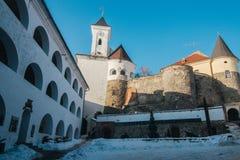 Palanok城堡围场 库存照片