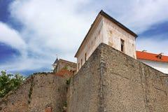 Palanok城堡或穆卡切沃城堡,乌克兰 库存照片