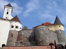 城堡palanok 免版税图库摄影