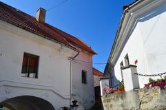 Palanok-Schloss in Mukachevo, Ukraine am 14. August 2016 Lizenzfreie Stockbilder
