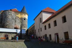 Palanok-Schloss in Mukachevo, Ukraine am 14. August 2016 Stockbild