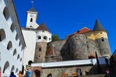 Palanok-Schloss in Mukachevo, Ukraine am 14. August 2016 Stockbilder