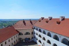 Palanok-Schloss in Mukachevo, Ukraine am 14. August 2016 Lizenzfreie Stockfotografie