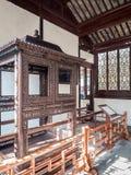 Palanquin auf Anzeige am Meister von Netzen arbeiten Wang Shi Yuan, Suzhou, China im Garten lizenzfreie stockfotografie