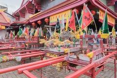 Palanquin, das chinesisches Gottidol bei Jui Tui Shrine in Phuket V unterbringt stockfoto