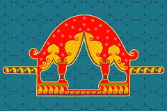 Palanquin no estilo indiano da arte Fotos de Stock Royalty Free