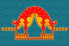 Palanquin w Indiańskim sztuka stylu Zdjęcia Royalty Free