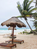 Palapa on the beach Royalty Free Stock Images