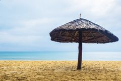 Palapa on the beach, summer holidays concept.  Stock Image