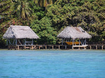 Palapa con il boathouse Immagini Stock