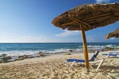 palapa della presidenza di spiaggia Fotografie Stock