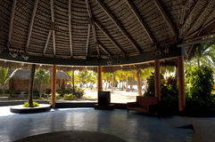 Palapa dome roof. Palapa Structure Inside of the Dome Roof royalty free stock photos