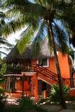 Palapa em Playa del Carmen - México Imagem de Stock Royalty Free