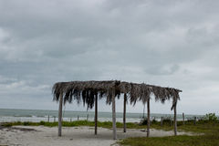 Palapa en la playa Foto de archivo