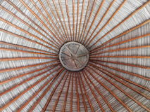 Palapa. Looking up to the top of a large palapa Royalty Free Stock Image