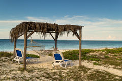 Palapa by the ocean Royalty Free Stock Image