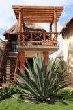 Palapa in Playa del Carmen - Mexico. Palapa at Hotel Mahekal in Playa del Carmen, South of Cancun - Mexico Stock Photography