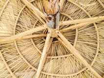 Palapa. The roof of a palapa from below Stock Photos