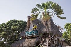 Palapa stileerde tropische woning stock fotografie