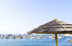Palapa and Yachts Stock Photography