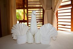 Palapas Interior in Playa del Carmen Stock Image