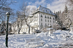 Palas旅馆,锡纳亚,罗马尼亚 图库摄影