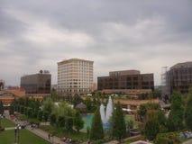 palas购物中心庭院在Iasi 图库摄影