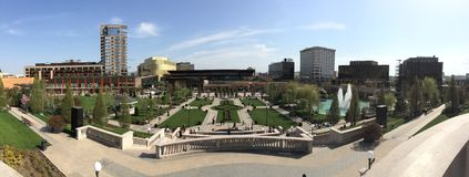 Palas complex in Iasi (Roemenië) Stock Foto