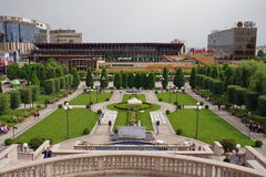 Panorama of Palas Iasi - photo taken from the Palace of Culture - landmark attraction in Iasi, Romania Stock Photography